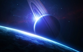 spacescapes, space, space art, planetary rings, planet