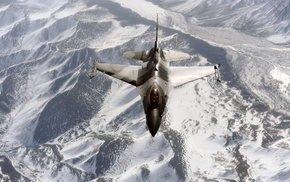 airplane, view, aircraft, fly, mountain