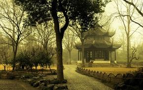 cities, park, Japan, trees