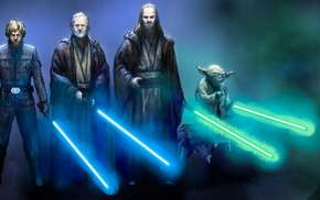 Yoda, lightsaber, Star Wars, Star Wars Episode V, The Empire Strikes Back, Jedi