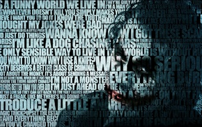 quote, Batman, Joker, The Dark Knight, typography, movies