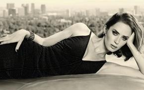 Emily Blunt, sepia, brunette, girl