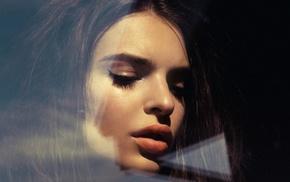 Emily Ratajkowski, model, brunette, girl, face