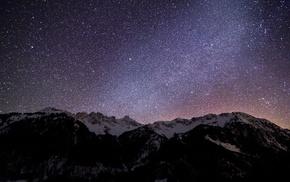 звезды, горы, природа