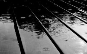 board, drops, macro, rain, water