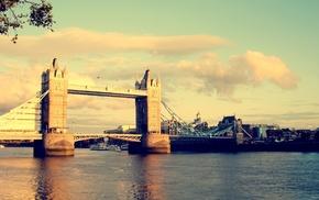 Лондон, города, мост, великобритания, город, тауэрский мост