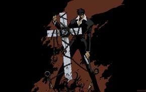 Dr. Grey Man, machine gun, futuristic, gun, Nicholas D. Wolfwood, Trigun