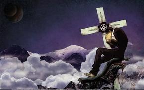 Nicholas D. Wolfwood, Trigun, machine gun, anime, futuristic