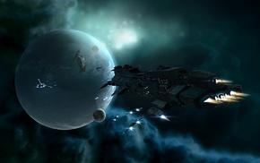 простой фон, игры, space, nebula, ships, fly, planets