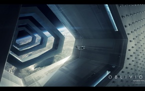 futuristic, movies, Oblivion movie, Universal Pictures, space, concept art