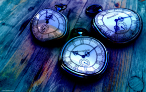 time, concept art, digital art, artwork, pocketwatches, clocks