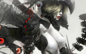 fantasy art, artwork, Ghost in the Shell, androids, girl, cyborg