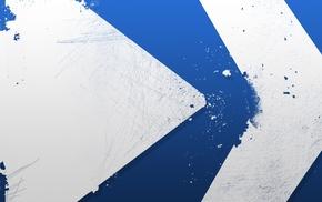 blue, minimalism