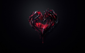 dark, heartbeat, hearts, liquid, digital art, blood