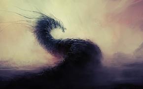дракон, фантастическое исскуство, произведение искусства
