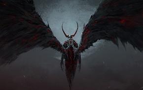 demon, death, destruction, artwork, fantasy art