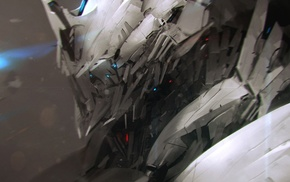 fantasy art, artwork, science fiction, aliens, mech