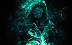 Dishonored, simple background, Corvo Attano, Corvo, video games, artwork