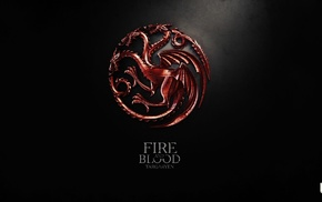 sigils, House Targaryen, digital art, A Song of Ice and Fire, Game of Thrones