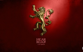 digital art, House Lannister, sigils, A Song of Ice and Fire, Game of Thrones
