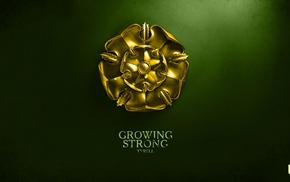 Game of Thrones, House Tyrell, digital art, sigils, A Song of Ice and Fire