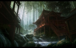 digital art, Andree Wallin, concept art, artwork, Asia, fantasy art