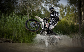sports, moto, splash, water