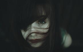 лицо, девушка, брюнетка