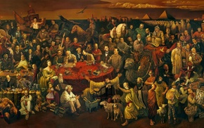 painting, Salvador Dal, Bruce Lee, Vladimir Lenin, Henri Matisse, Winston Churchill