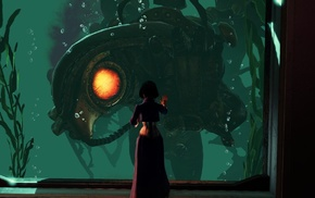 Songbird BioShock, BioShock Infinite, sea, BioShock, video games, Rapture