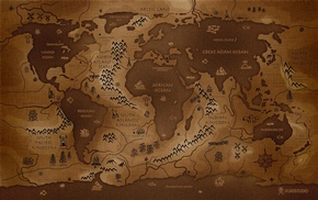 reverse, world map, sepia, map, world, Vladstudio