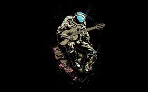 musicians, astronaut, space, asteroid, guitar