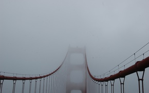 mist, Golden Gate Bridge, bridge
