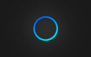 blue, minimalism, circle, digital art