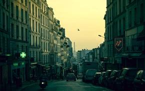 cityscape, Paris, car