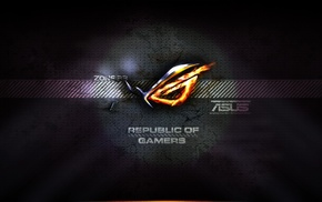 ASUS, ASUS ROG, video games, logo, Republic of Gamers