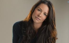 face, brown eyes, brunette, Evangeline Lilly, celebrity, portrait