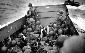 World War II, military, Omaha Beach, people