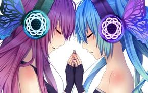 Vocaloid, anime girls, Hatsune Miku, Megurine Luka, anime