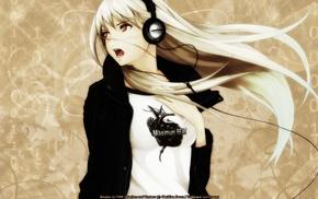headphones, anime, anime girls
