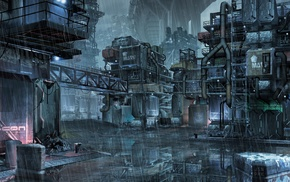 city, fantasy art, Jason Park, urban, space, concept art