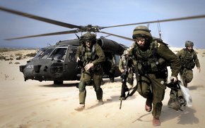 army, desert, gun