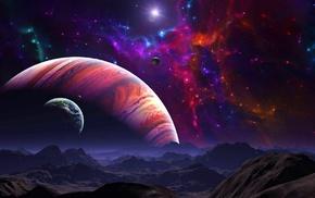 фантастическое исскуство, произведение искусства, цифровое искусство, галактика, космос