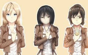 Shingeki no Kyojin, anime girls, anime, Mikasa Ackerman, Blouse Sasha