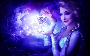 movies, Frozen movie, artwork, Princess Elsa