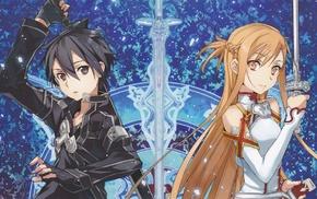 anime girls, anime, Kirigaya Kazuto, Sword Art Online, Yuuki Asuna