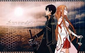 Yuuki Asuna, Kirigaya Kazuto, Sword Art Online, anime girls, anime