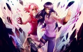 anime, Kunoichi, Hyuuga Hinata, Haruno Sakura, Naruto Shippuuden