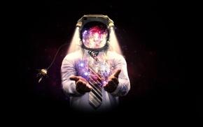 произведение искусства, фантастическое исскуство, цифровое искусство, астронавт, космос