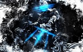 video games, concept art, horror, blue, artwork, space
